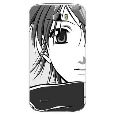Snooky 42384 Digital Print Mobile Skin Sticker For Intex Cloud Z5 - Grey