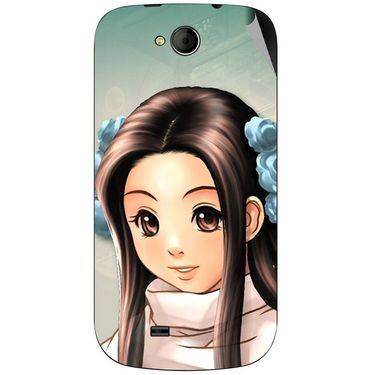 Snooky 46167 Digital Print Mobile Skin Sticker For Micromax Canvas Elanza A93 - Multicolour