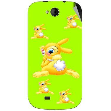 Snooky 46179 Digital Print Mobile Skin Sticker For Micromax Canvas Elanza A93 - Green