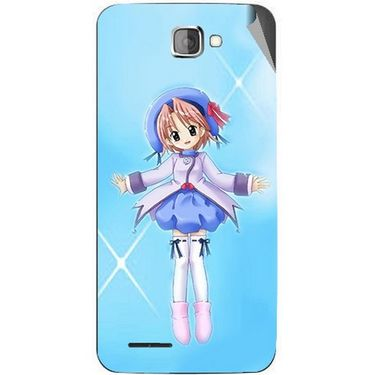 Snooky 46215 Digital Print Mobile Skin Sticker For Micromax Canvas Mad A94 - Blue