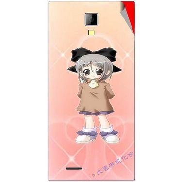 Snooky 46280 Digital Print Mobile Skin Sticker For Micromax Canvas Xpress A99 - Orange