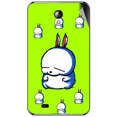 Snooky 46302 Digital Print Mobile Skin Sticker For Micromax Superfone A101 - Green