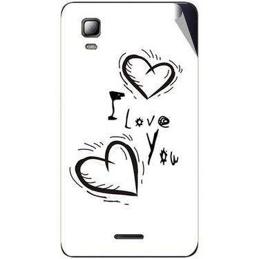 Snooky 46341 Digital Print Mobile Skin Sticker For Micromax Canvas Doodle 3 A102 - White
