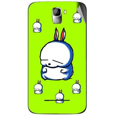 Snooky 46398 Digital Print Mobile Skin Sticker For Micromax Canvas Entice A105 - Green