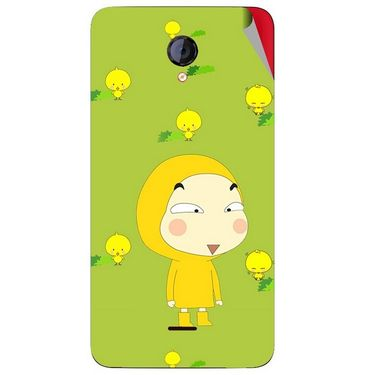 Snooky 46421 Digital Print Mobile Skin Sticker For Micromax Unite 2 A106 - Green