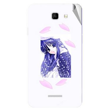 Snooky 46479 Digital Print Mobile Skin Sticker For Micromax Canvas Xl2 A109 - White