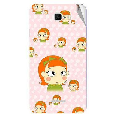 Snooky 46483 Digital Print Mobile Skin Sticker For Micromax Canvas Xl2 A109 - Orange