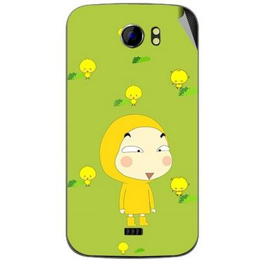 Snooky 46485 Digital Print Mobile Skin Sticker For Micromax Canvas 2 A110 - Green