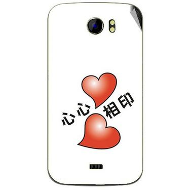 Snooky 46500 Digital Print Mobile Skin Sticker For Micromax Canvas 2 A110 - White