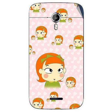 Snooky 46611 Digital Print Mobile Skin Sticker For Micromax Canvas Magnus A117 - Orange