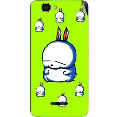 Snooky 46622 Digital Print Mobile Skin Sticker For Micromax Canvas 2 A120 - Green