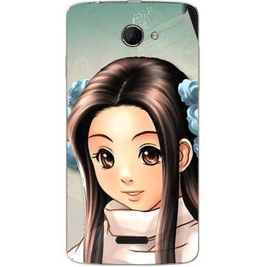 Snooky 46647 Digital Print Mobile Skin Sticker For Micromax Canvas Elanza 2 A121 - Multicolour