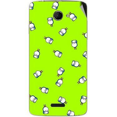 Snooky 46658 Digital Print Mobile Skin Sticker For Micromax Canvas Elanza 2 A121 - Green