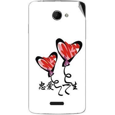 Snooky 46662 Digital Print Mobile Skin Sticker For Micromax Canvas Elanza 2 A121 - White