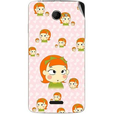 Snooky 46675 Digital Print Mobile Skin Sticker For Micromax Canvas Elanza 2 A121 - Orange