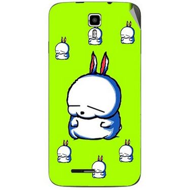 Snooky 46686 Digital Print Mobile Skin Sticker For Micromax Canvas Juice A177 - Green