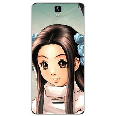 Snooky 46711 Digital Print Mobile Skin Sticker For Micromax Canvas HD Plus A190 - Multicolour