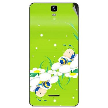 Snooky 46715 Digital Print Mobile Skin Sticker For Micromax Canvas HD Plus A190 - Green