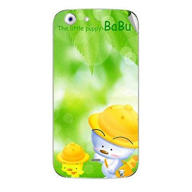 Snooky 46746 Digital Print Mobile Skin Sticker For Micromax Canvas 4 A210 - Green