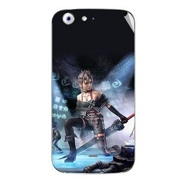 Snooky 46749 Digital Print Mobile Skin Sticker For Micromax Canvas 4 A210 - Blue