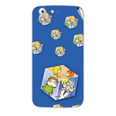 Snooky 46768 Digital Print Mobile Skin Sticker For Micromax Canvas 4 A210 - Blue