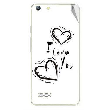 Snooky 46981 Digital Print Mobile Skin Sticker For Micromax Canvas Hue AQ5000 - White