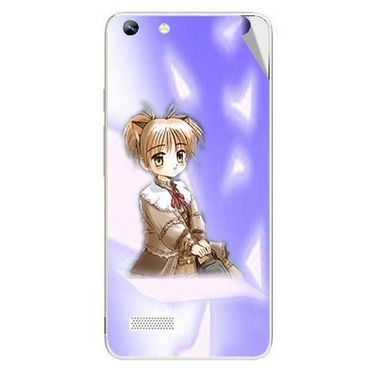 Snooky 46990 Digital Print Mobile Skin Sticker For Micromax Canvas Hue AQ5000 - Purple
