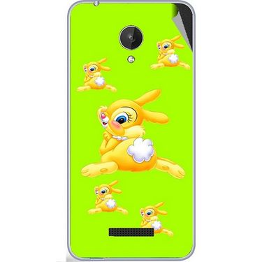 Snooky 47075 Digital Print Mobile Skin Sticker For Micromax Canvas Spark Q380 - Green
