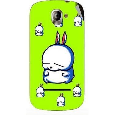 Snooky 47133 Digital Print Mobile Skin Sticker For Xolo A500 - Green
