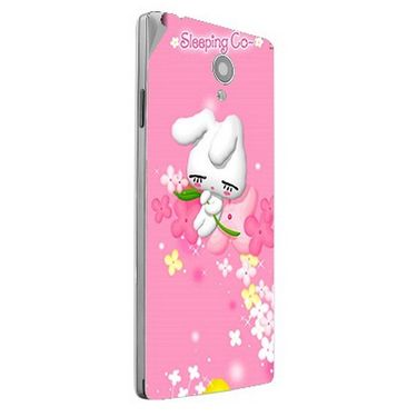 Snooky 47160 Digital Print Mobile Skin Sticker For Xolo A500 Club - Pink