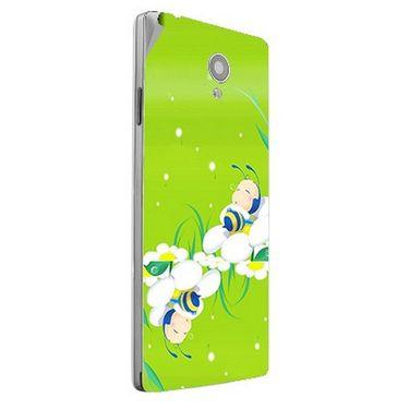 Snooky 47162 Digital Print Mobile Skin Sticker For Xolo A500 Club - Green