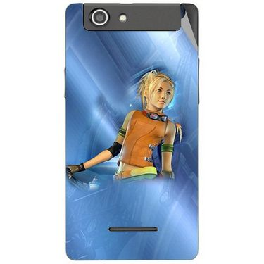 Snooky 47195 Digital Print Mobile Skin Sticker For Xolo A500s - Blue