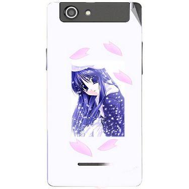 Snooky 47214 Digital Print Mobile Skin Sticker For Xolo A500s - White