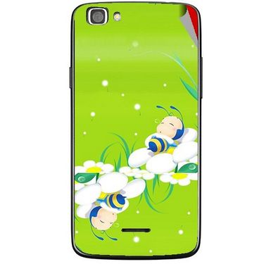 Snooky 47226 Digital Print Mobile Skin Sticker For Xolo A500s Lite - Green