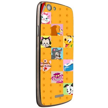 Snooky 47263 Digital Print Mobile Skin Sticker For Xolo A510S - Yellow