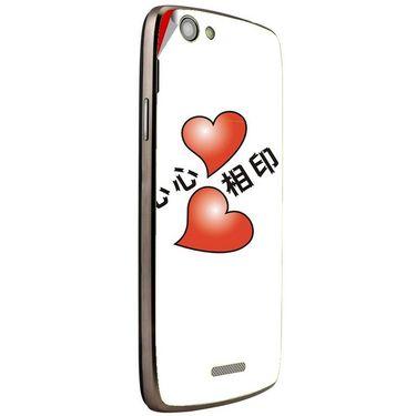 Snooky 47267 Digital Print Mobile Skin Sticker For Xolo A510S - White