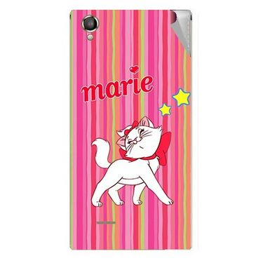 Snooky 47296 Digital Print Mobile Skin Sticker For Xolo A550S IPS - Pink