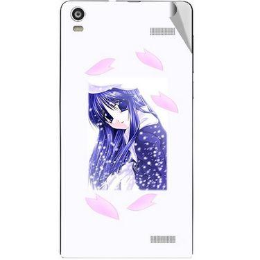 Snooky 47374 Digital Print Mobile Skin Sticker For Xolo A1000S - White