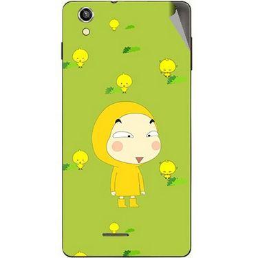 Snooky 47380 Digital Print Mobile Skin Sticker For Xolo A1010 - Green