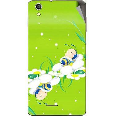 Snooky 47386 Digital Print Mobile Skin Sticker For Xolo A1010 - Green