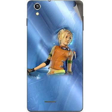 Snooky 47387 Digital Print Mobile Skin Sticker For Xolo A1010 - Blue