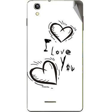 Snooky 47396 Digital Print Mobile Skin Sticker For Xolo A1010 - White