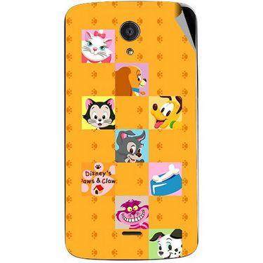 Snooky 47423 Digital Print Mobile Skin Sticker For Xolo Omega 5.0 - Yellow