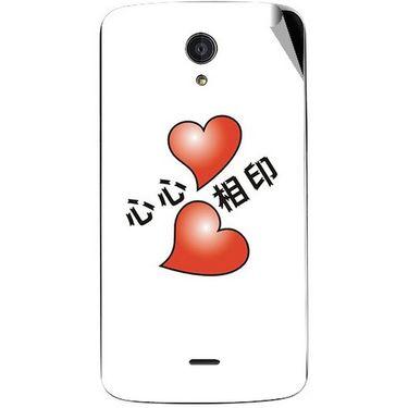 Snooky 47427 Digital Print Mobile Skin Sticker For Xolo Omega 5.0 - White