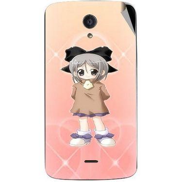 Snooky 47431 Digital Print Mobile Skin Sticker For Xolo Omega 5.0 - Orange