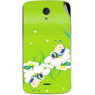 Snooky 47450 Digital Print Mobile Skin Sticker For Xolo Omega 5.5 - Green