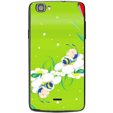 Snooky 47482 Digital Print Mobile Skin Sticker For Xolo One - Green