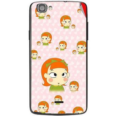 Snooky 47506 Digital Print Mobile Skin Sticker For Xolo One - Orange