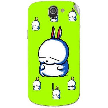 Snooky 47517 Digital Print Mobile Skin Sticker For Xolo Q600 - Green