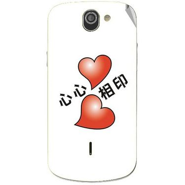 Snooky 47523 Digital Print Mobile Skin Sticker For Xolo Q600 - White